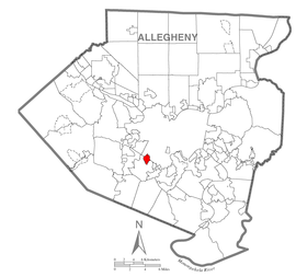 Map of Dormont, Allegheny County, Pennsylvania Highlighted.png