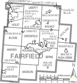 Municipalities and townships of Fairfield County.