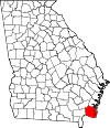 Map of Georgia highlighting Camden County.svg