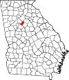 Map of Georgia highlighting Rockdale County.svg