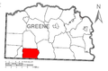 Map of Gilmore Township, Greene County, Pennsylvania Highlighted.png