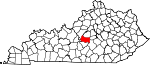 State map highlighting Marion County