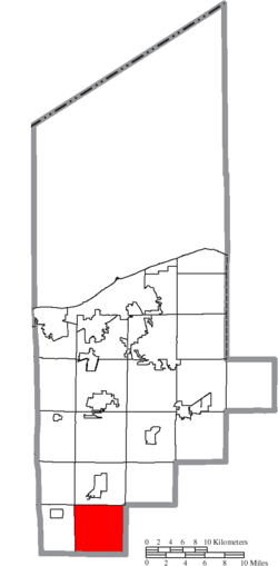 Location of Huntington Township in Lorain County