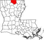 State map highlighting Union Parish