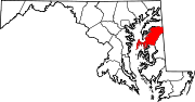 Map of Maryland highlighting Queen Anne's County.svg