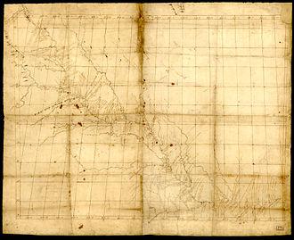 John Evans (explorer) - John Evans's map