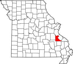 Map of Missouri highlighting Saint Francois County.svg