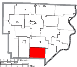 Location of Benton Township in Monroe County
