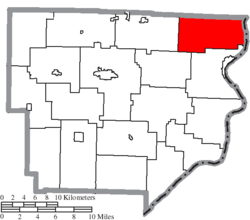 Location of Switzerland Township in Monroe County