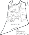 Map of Newport County Rhode Island With Municipal Labels.PNG