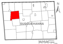 Map of Susquehanna County Pennsylvania highlighting Forest Lake Township.PNG