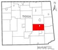 Map of Tioga County Pennsylvania Highlighting Covington Township.PNG