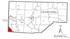 Map of West Shenango Township, Crawford County, Pennsylvania Highlighted.png