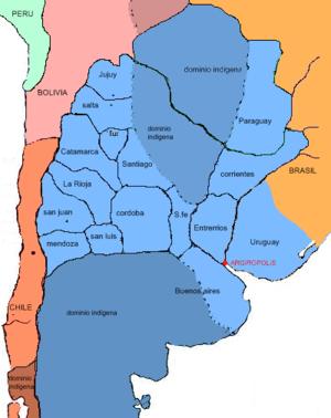 Mapa Estados Unidos del Plata