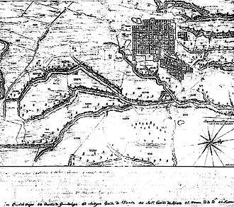 History of Guatemala City - Map of Guatemala City in 1821.
