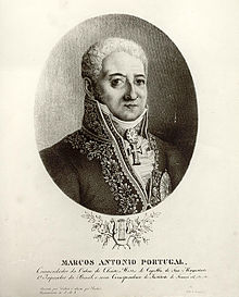 Engraving of Marcos Portugal