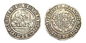 Mary of Burgundy - Flanders, double Briquet, struck under Mary of Burgundy in 1478