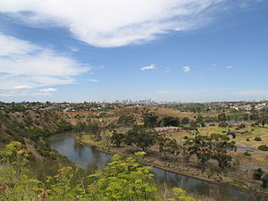 Maribyrnong River at Essendon West.JPG