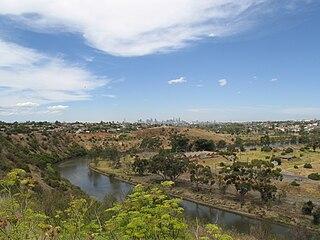 Maribyrnong River River in Victoria, Australia