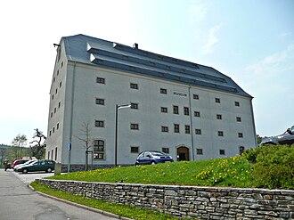 Marienberg - The Marienberg mining store (Bergmagazin), since 2006 a museum for the Saxon-Bohemian Ore Mountains