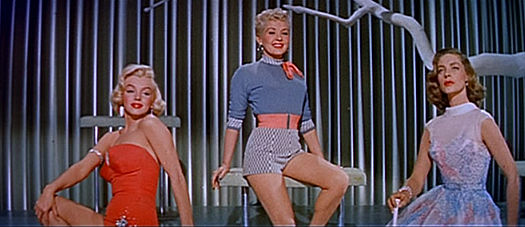 Monroe as Pola, Grable as Loco, and Bacall as Schatze Marilyn Monroe, Betty Grable and Lauren Bacall in How to Marry a Millionaire trailer.jpg