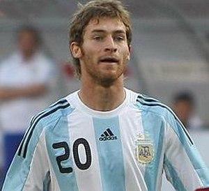 Mario Bolatti - Bolatti playing for Argentina in 2009