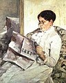 "Mary Cassatt, Reading ""Le Figaro"", 1878, Collection Mrs. Eric de Spoelberch, Haverford, Pennsylvania.jpg"