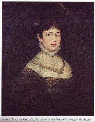 Laura Henschel-Rosenfeld - Portrait of Laura by Gottlieb, 1877