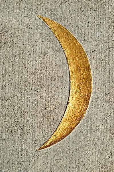 Belgique - Brabant wallon - Court-Saint-Etienne - Mausolée Goblet d'Alviella - symboles ésotériques - croissant de lune