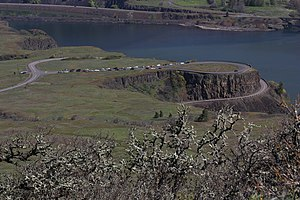 Mayer State Park - The upper portion of the park includes Rowena Crest, a viewpoint with interpretive signs, and Rowena Plateau.