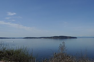 McNeil Island - McNeil Island from Steilacoom