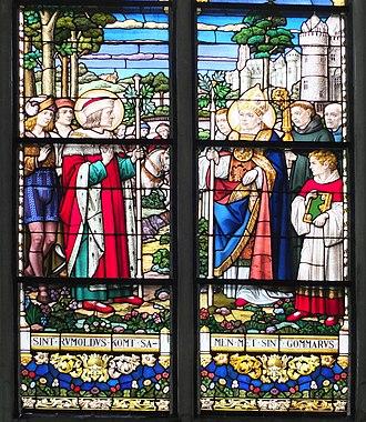 Gummarus - Saint Rumbold meets Saint Gummarus, Cathedral of Mechelen