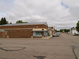 Medina, North Dakota - Business District of Medina