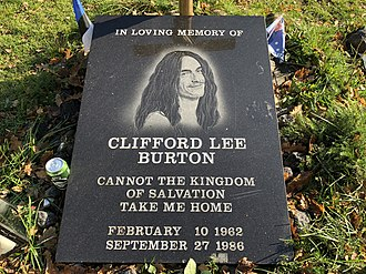 Cliff Burton - Cliff Burton memorial stone October 15, 2018