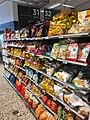 Meny supermarket shelves Tønsberg Norway Snacks 2017-09-20 02.jpg