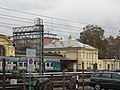 Meran railway station - view from railroad.JPG