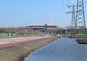 Het hooggelegen station Sliedrecht Baanhoek.