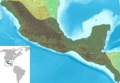 Mesoamérica relief map with continental scale.png