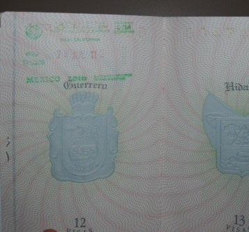 Mexico Baja California passport stamp