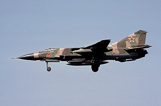 1989 Belgium MiG-23 crash - A Soviet MiG-23 similar to the one involved in the accident