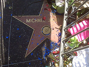 Michael Jackson's star on the Walk of Fame on ...