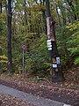 Michelský les, rozcestník U Labutě.jpg