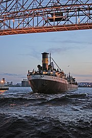 The Str. American Victory (then, the Middletown) on Lake Superior