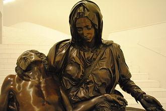 Replicas of Michelangelo's Pietà - Pietà at Museo Soumaya, Mexico City.