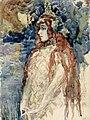 Mihail Vrubel - The Sea Princess (Nadezhda Zabela-Vrubel in Rimsky-Korsakov's opera Sadko), sketch - A-2002-541 - Finnish National Gallery.jpg
