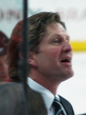 Mike Babcock - Mike Babcock coaching a playoff game