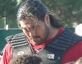Mike Iupati at 49ers training camp 2010-08-09 3.JPG