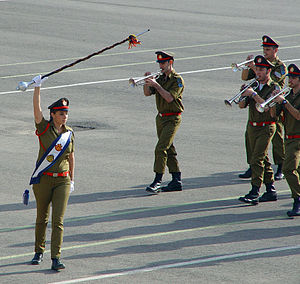 Drum major - Israeli military band