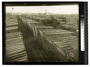 Eureka, California - Mill yard across the bay from Eureka