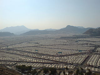 Mina, Saudi Arabia Neighborhood in Mecca, Makkah Province, Saudi Arabia
